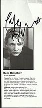 Cate Blanchett signed theatre programme portrait