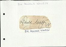 Sir Donald Woolfitt signed vintage large