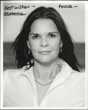 Ali McGraw signed 10 x 8 black and white portrait