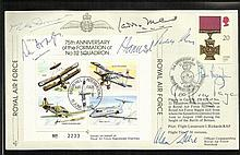 WW2 Fighter and Bomber aces multi-signed cover