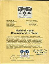 Brig Paul Tibbets signed A4 Medal of Honor