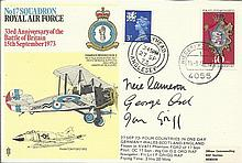 AVM Neil Cameron DSO DFC signed cover. Fighter