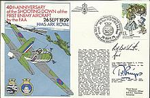 Navy signed cover RNSC(2)21 40th Anniversary of