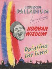Norman Wisdom signed London Palladium Painting the Town Programme plus Palace Theatre Norman Wisdom Wheres Charlie Programme unsigned