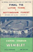 Collection of 4 football 1950s programmes and a FA Cup 1953 annual. Programmes include Luton Town v Nottingham Forest 1959, England v France 1957, England v Scotland 1953, England v Yugoslavia 1956