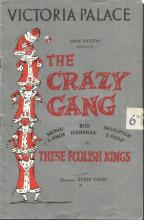 The Crazy Gang collection of 5 programmes and souvenir brochures