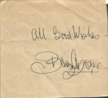 Barry Morse signed piece of paper actor of stage, screen and radio best known for his roles in the ABC television series The Fugitive and the British sci-fi drama Space: 1999.