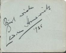 Cedric Hardwick signed autograph album page dated 1936 English stage and film actor whose career spanned nearly fifty years. His theatre work included notable performances in productions of the plays of Shakespeare and Shaw, and his film work included leading roles in a number of adapted literary classics.