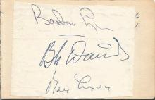 Bebe Daniels and Ben Lyons signed autograph album page attached to card