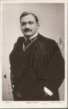 Enrico Caruso signed 6 x4 black and white photo. Rotary Photographs portrait. Autograph light to E of Enrico. Nice young image. Italian operatic tenor. He sang to great acclaim at the major opera houses of Europe and the Americas, appearing in a wide variety of roles from the Italian and French repertoires that ranged from the lyric to the dramatic. Caruso also made approximately 260 commercially released recordings from 1902 to 1920