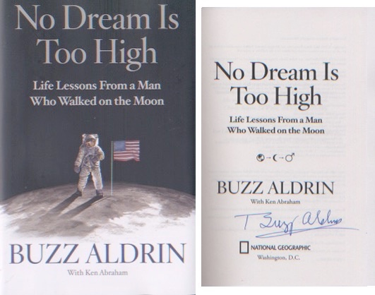 Apollo buzz aldrin first moonlanding signed american first for Dream home book tour