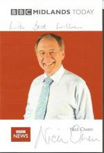 TV news reader collection 20+ signed photos. Mainly 6x4 colour photos. Includes Nick Owen, Jane