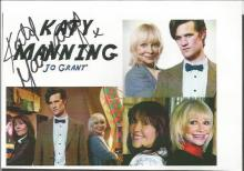 Dr Who signed 6x4 photo collection. Five photos includes Katy Manning, Louise Jameson, Yasmin
