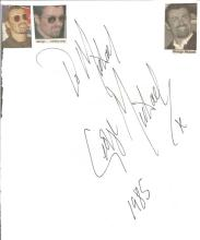 George Michael signed large white page to Michael dated 1985, huge signature about 5 x 3 inches.