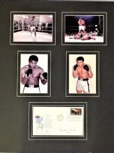 Muhammad Ali signed 1988 US Seoul Olympics FDC mounted with four 6 x 4 photos into an attractive