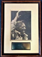 John Wayne signed sepia photo. Framed and mounted to approx. size 19x13.5. Picture is mounted