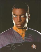 LeVar Burton as Lieutenant Commander Geordi La Forge Star Trek signed 10 x 8 colour photo. Good