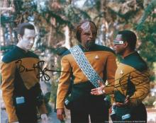 Brent Spiner as Data and LeVar Burton as Lieutenant Commander Geordi La Forge Star Trek signed 10