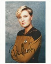 Denise Crosby signed 10 x 8 colour Star Trek photo. Good Condition. All signed items come with our