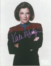 Kate Mulgrew signed 10 x 8 colour Star Trek photo. Good Condition. All signed items come with our