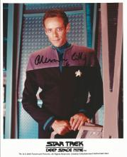Alexander Siddig as Dr. Julian Bashir signed 10 x 8 colour Star Trek photo. Good Condition. All