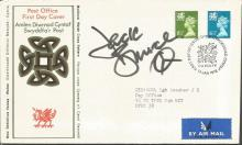 Jack Bruce signed 1976 Welsh Definitive FDC with neat typed address. Good Condition. All signed