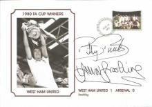 Signed Commemorative Cover, WHU 1980, a superbly produced modern cover depicting the 1980 FA Cup