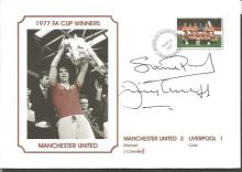 Signed Commemorative Cover, Man United 1977, A Superbly Produced Modern Cover Depicting The 1977
