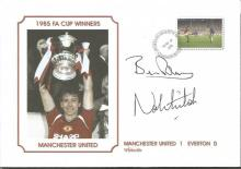 Signed Commemorative Cover, Man United 1985, A Superbly Produced Modern Cover Depicting The 1985