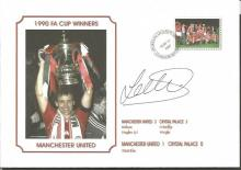 Signed Commemorative Cover, Man United 1990, A Superbly Produced Modern Cover Depicting The 1990