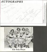 The Roly Polys signed promo and flyer. Good Condition. All signed items come with our certificate of