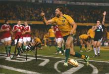 Adam Ashley Cooper Signed Australia Rugby 8x12 Photo. Good Condition. All signed items come with our