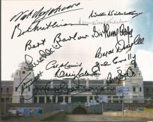 Wembley Stadium Legends Multi Signed 8x10 Photo Inc. Bob Mathias, Bert Barlow, Sir Walter