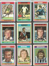 Lot Of Signed Topps 1976/77 Trading Cards, X 14 In Total Including Harvey, Sammels, Newton,