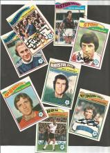 Lot Of Signed Topps 1978/79 Trading Cards, X 13 In Total Including Francis, Needham, Beattie,