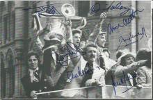 Signed Manchester United 1977 Cutting, Removed From A Footy Annual Measuring 17 X 11 Cms,