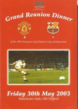 Signed Manchester United 1991 Menu, A Superbly Produced Menu For A Grand Reunion Dinner At Old