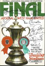 Signed Programme 1980 FA Cup Final, Arsenal V West Ham United, Signed By All Eleven Hammers That