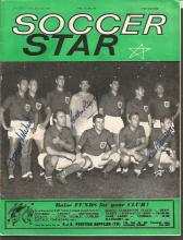 Signed Soccer Star Magazine, Dated July 10th, 1964, The Front Cover Depicts England Players Lining