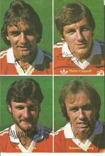 Vintage Poster Depicting Head & Shoulder Images Of 1980s Man United Players Macari, Coppell, Birtles