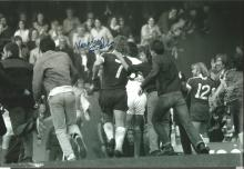 Kenny Swain Signed 12 X 8 Photo, Chelsea Fans Pounce On Swain After A Memorable 4 3 Victory Over
