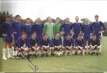 Signed 12 X 8 Photo Bobby Tambling, Chelsea Squad Of Players Pose For Photographers During A Photo