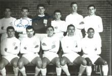 Signed 12 X 8 Photo Leeds United 1965, Players Posing For Photographers At Elland Road In April