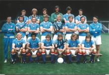 Signed 12 X 8 Photo Manchester City 1973, Players Posing For A Squad Photo During A Photo Shoot At
