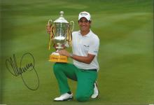 Matteo Manassero Signed Golf 8x12 Photo. Good Condition. All signed items come with our