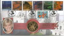 Catrin Finch signed Wales A British Journey Diana The Peoples Princess coin FDC PNC official