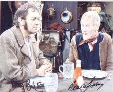 Ray Galton and Alan Simpson signed 10 x 8 photo from Steptoe and Son. Good Condition. All signed