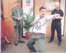 The Office Ricky Gervais signed 10 x 8 photo picture as David Brent. Good Condition. All signed