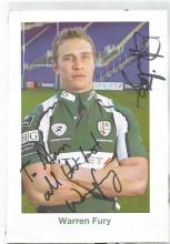 Warren Fury signed 8x6 colour photo. Welsh international rugby union player. He currently plays club
