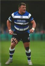 David Wilson signed 12x8 colour photo. rugby union tighthead prop who plays for Premiership side